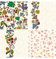 Four Forest Doodle Patterns vector image