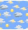 Day weather seamless background vector image