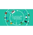 Internet of Things flat iconic vector image