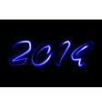 2014 neon glowing vector image vector image