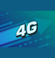 4g high speed internet technology vector image vector image
