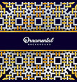 Arabic ornament background baroque in victorian