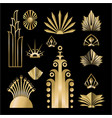 art deco template golden-black diy elements set vector image vector image