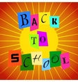 Back To School from Color Paper over Orange vector image vector image