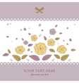 beautiful card with flowers vector image vector image