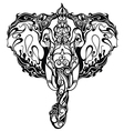 Beautiful Elephant with ornament vector image vector image
