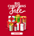 big christmas sale shop now gifts present boxes vector image vector image