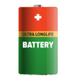 big ultra longlife battery isolated vector image