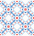 blue red pattern boho background vector image vector image