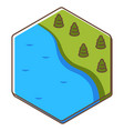 board game card with location river and woods vector image