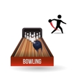 Bowling design Sport icon Flat vector image
