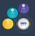 business presentation or infographic with 3 vector image vector image