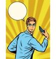 businessman Narcissus retro pop art vector image vector image