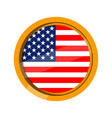 button flag of united states vector image