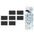 Calendar Grid Icon With 2017 Year Bonus Symbols vector image vector image