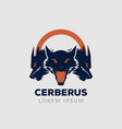 cerberus guard logo sign symbol icon vector image