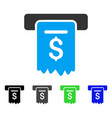 Cheque payment flat icon vector image