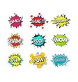 comic speach bubble effect set vector image vector image