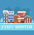 cozy winter in city vector image