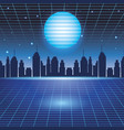 digital cityscape background vector image
