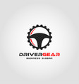 driver gear - auto combination logo template vector image
