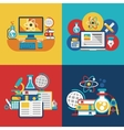 Education and science flat concepts vector image