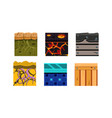 flat set 6 seamless textures for online vector image