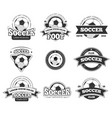 football soccer club logo badge templates vector image vector image