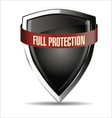 Full protection silver shield vector image vector image