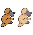 funny cartoon platypus vector image vector image