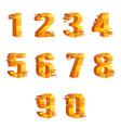 golden cracked breaking pieces 3d realistic vector image vector image