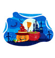 halloween trick or treat party poster template vector image