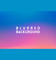 horizontal wide blue pink blurred background vector image vector image