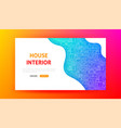 house interior landing page vector image vector image