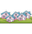 houses buildings silhouette icon vector image