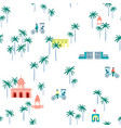 indian street seamless pattern vector image
