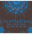 Indian wedding invitation vector image vector image