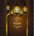 islamic design mosque door vector image vector image