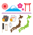 Japan symbol set vector image vector image