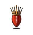 logo ball for american football or rugin the vector image vector image