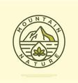 logo hipster mountain scenery vector image vector image