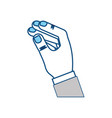 magician hand trick vector image