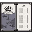 menu with sailboat vector image vector image