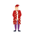 merry christmas man with warm clothes and hat vector image vector image