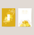 minimal wedding invitation card template design vector image vector image