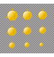 Moon Yellow Planet Moon isolated Set moon planet vector image