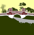 Moscow Tsaritsino palace Bridge vector image vector image
