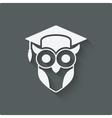 owl in graduation cap wisdom symbol vector image vector image