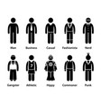 people man human character type stick figure vector image vector image