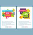 premium goods best choice sale emblems on adverts vector image vector image